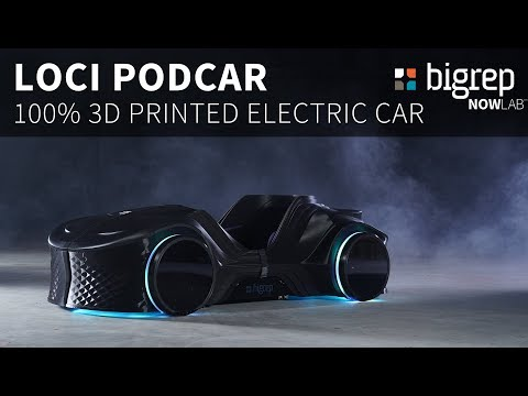 The LOCI Podcar - a fully 3D printed last-mile electric vehicle