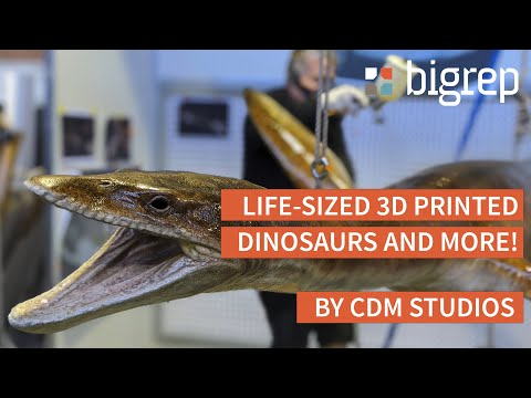 Life-Size 3D Printed Dinosaurs and More by CDM STUDIOS
