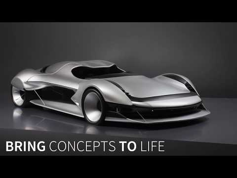 Salt Flats Racing Car Model on the BigRep ONE