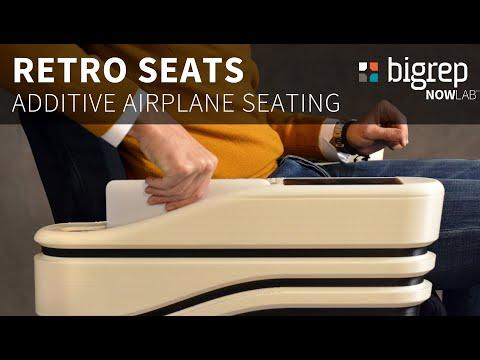 BigRep Retro Seats - Additively Refurbished Airplane Seating