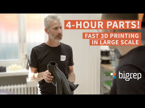 4-HOUR PARTS! Fast 3D Printing in Large Scale with the BigRep PRO