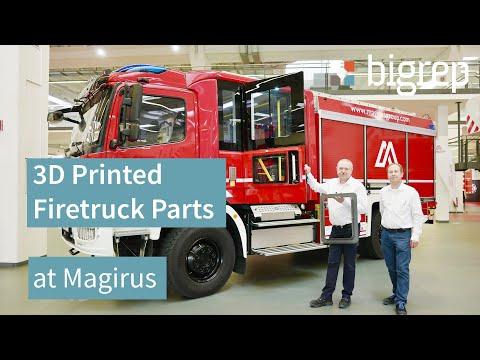 3D Printed Firetruck Parts at Magirus