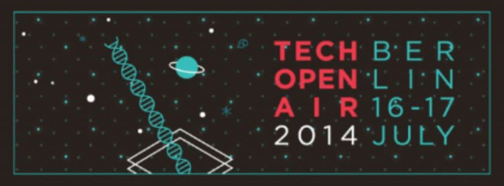 Logo of the Tech Open Air in July 2014 in Berlin
