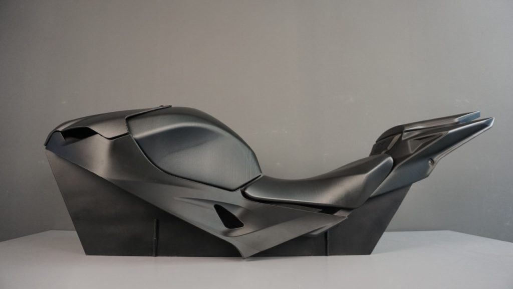 Motorcycle body as a large-scale 3d printing solutions