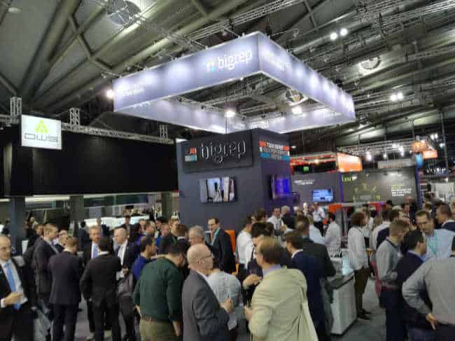 Representatives from across industry meeting at the BigRep stand at Formnext 2017