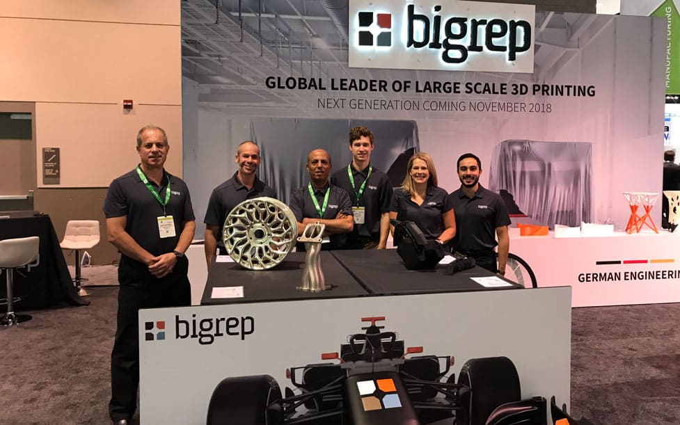 The BigRep America Team at the booth, IMTS Chigago 2018