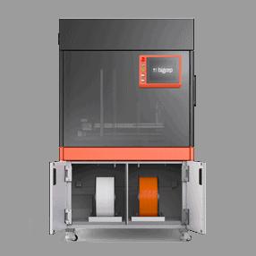 BigRep STUDIO 3D Drucker geöffnete Filamentkammer