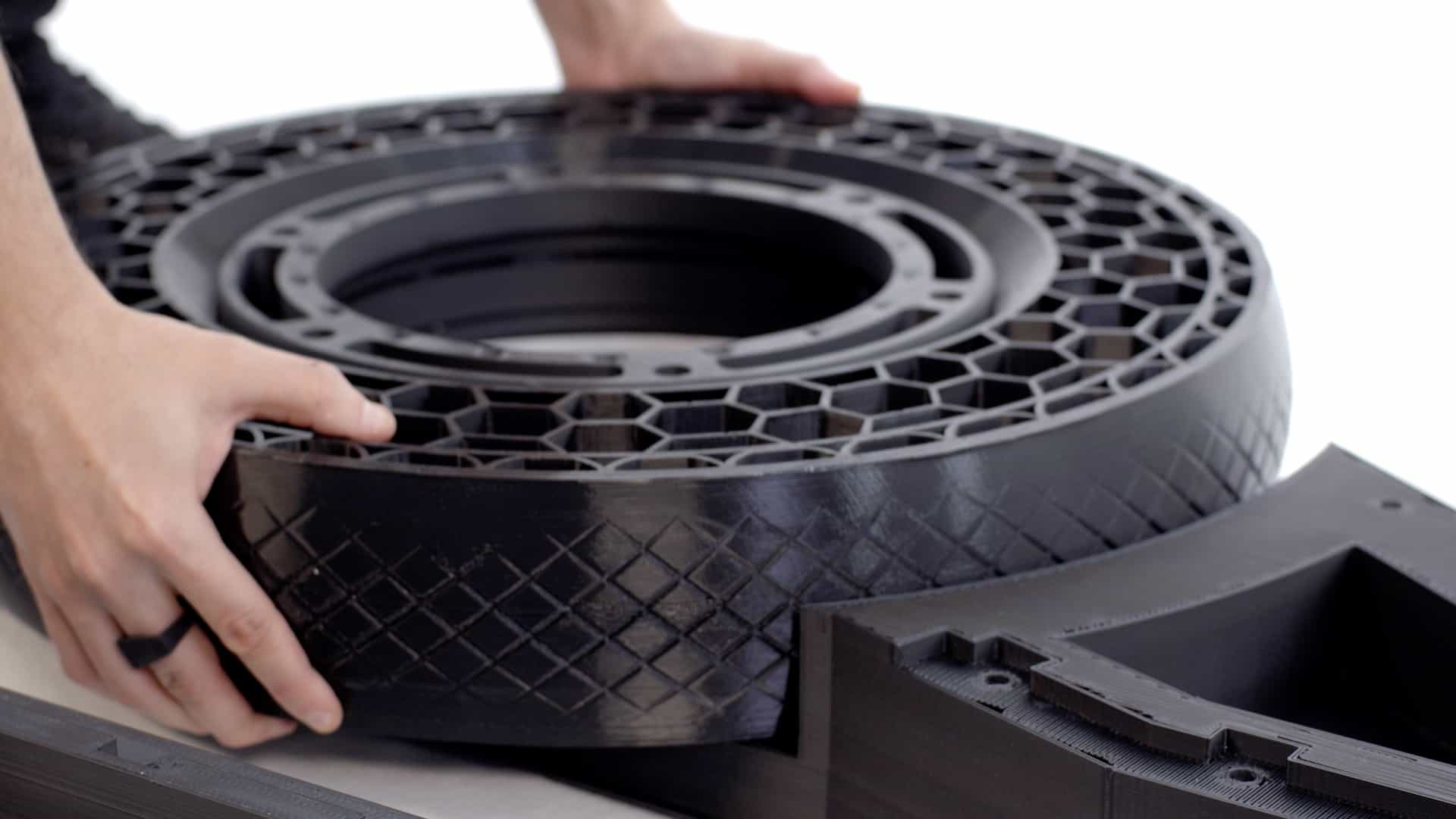 3D printed airless tire NERA eBike