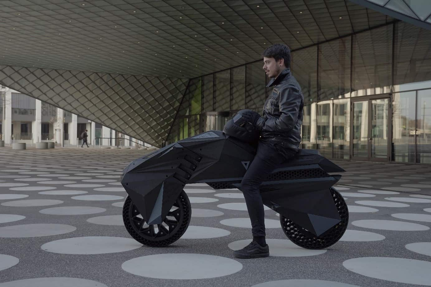Lead NERA designer, Marco Mattia Cristofori, poses with the innovative eBike.