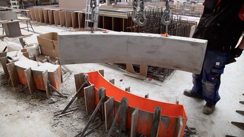 Curved Concrete Forms 3D Print