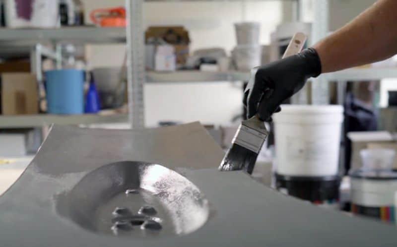 3D Print Post Processing Brush Coating