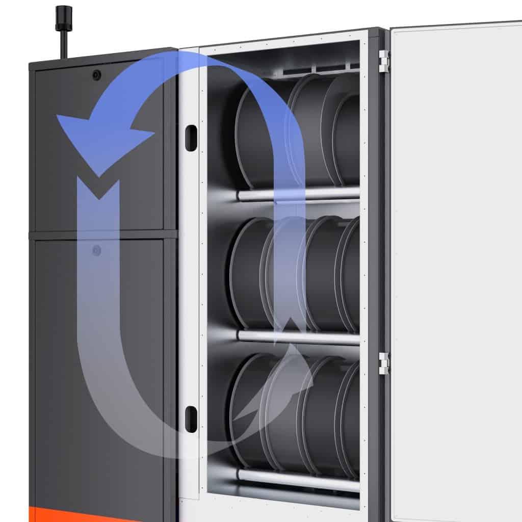 Filament Dry Cabinet: 60 kg Storage