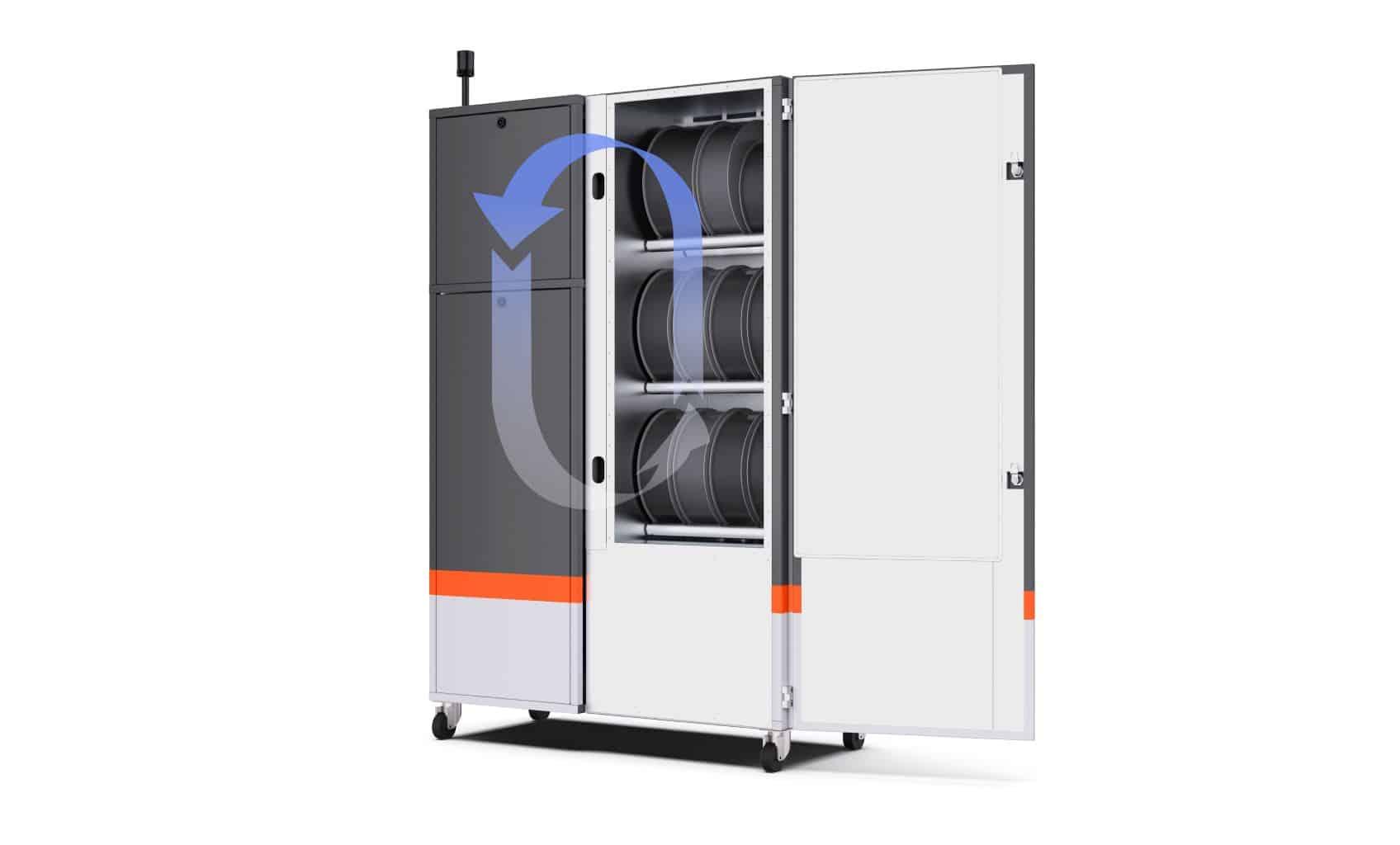 Filament Dry Cabinet: Air Flow