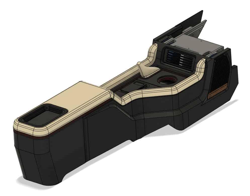 3D Printed Car Interior Rendering